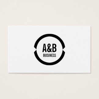 Simple Monogram Sports Agent Business Card