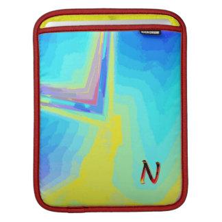 Simple Monogram Vertical iPad sleeve