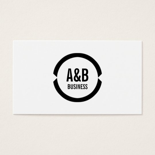 Simple Monogram Veterinary Dentist Business Card