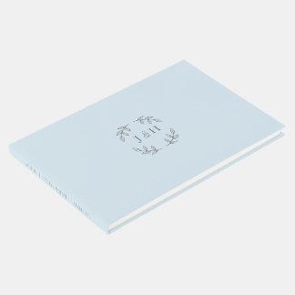 Simple Monogram Wedding Guestbook