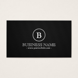 Simple Monogram Wine Guide Business Card