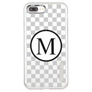 Simple Monogram with Grey Checkerboard Incipio DualPro Shine iPhone 8 Plus/7 Plus Case