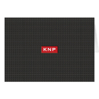 Simple Monogrammed Black Tread NoteCard
