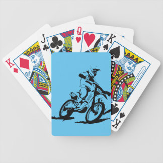 Simple Motorcross Bike and Rider Bicycle Playing Cards