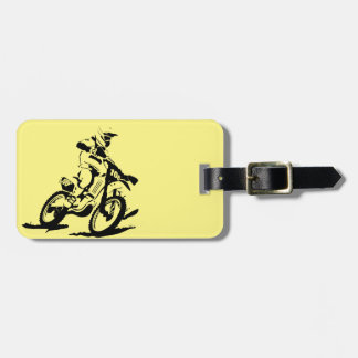 Simple Motorcross Bike and Rider Luggage Tag