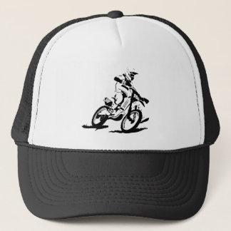 Simple Motorcross Bike and Rider Trucker Hat