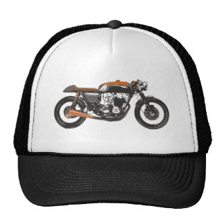 Simple Motorcycle - Cafe Racer 750 Drawing Cap