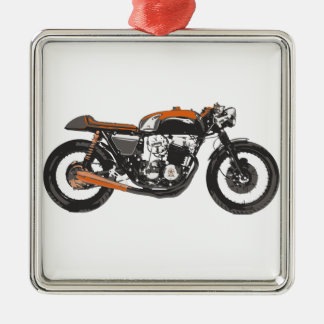 Simple Motorcycle - Cafe Racer 750 Drawing Christmas Ornament