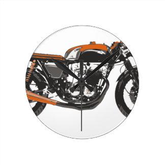 Simple Motorcycle - Cafe Racer 750 Drawing Wallclocks