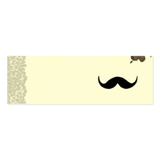 Simple mustache deluxe pack of skinny business cards