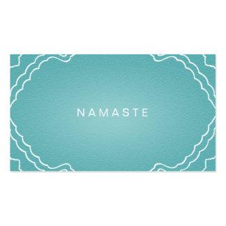 Simple Namaste Yoga Teacher Aqua Teal Pack Of Standard Business Cards