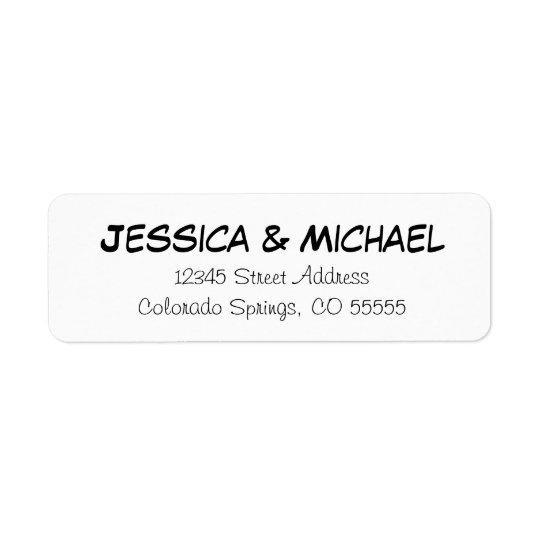 Simple Names - Return Address Labels