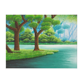 Simple Nature Painting Canvas Print