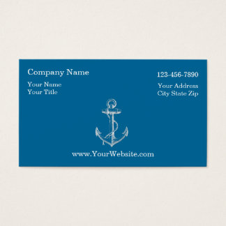 Simple Nautical Business Cards
