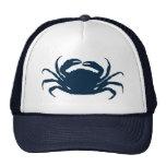 Simple Navi Blue Sea Crab Illustration Cap
