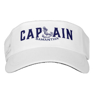 Simple Navy-Blue Concept Text Concept Design Visor