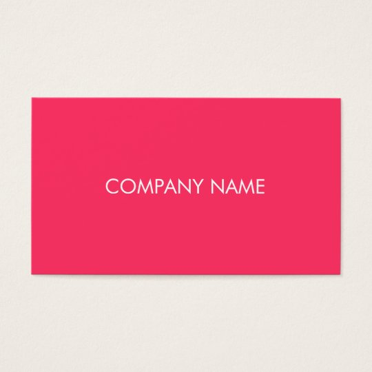 simple neon pink business card