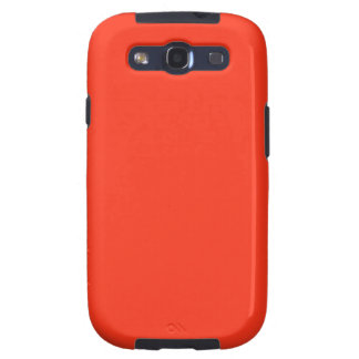 Simple Orange Color Samsung Galaxy S3 Covers