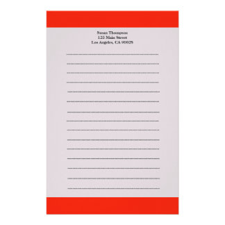 Simple Orange color Personalised Stationery