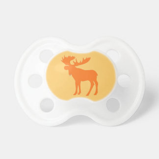 Simple orange moose baby pacifier