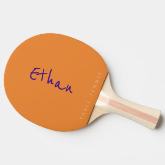 simple orange table_tennis signature ping pong paddle