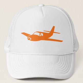 Simple orange white airplane hat