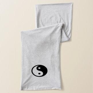 Simple Oriental Yin-Yang Sign Symbol Scarf
