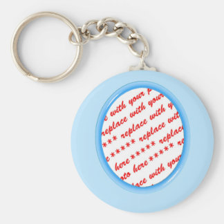 Simple Oval Photo Frame Keychains