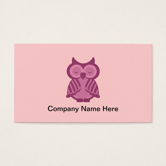 Simple Owl Business Cards