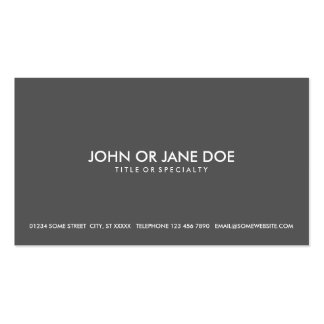 simple pack of standard business cards