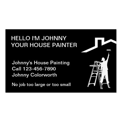 Simple Painter Business Cards