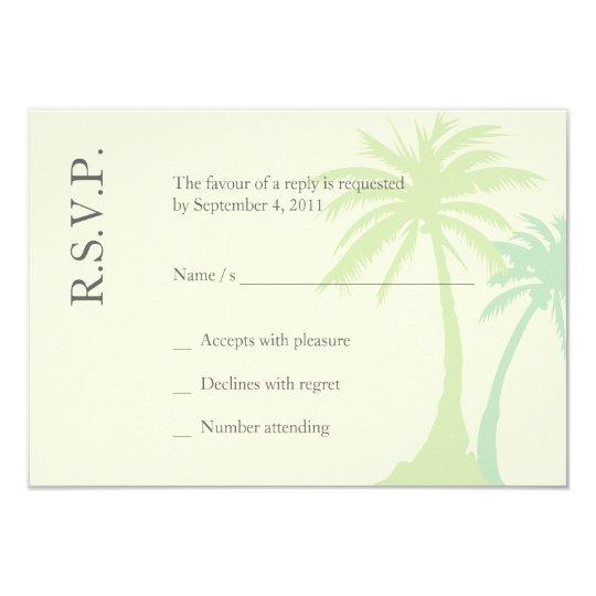 Simple Palm Tree Wedding RSVP Card