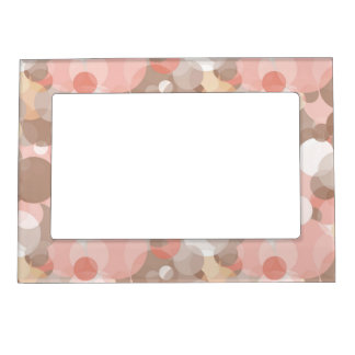 Simple Pattern - Circles Picture Frame Magnets