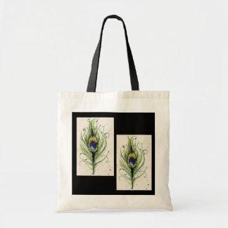 Simple Peacock tote