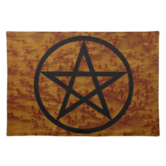 Simple Pentangle Spiritual Sacred Space Altar Mat Place Mat