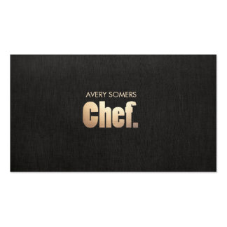 Simple Personal Chef Catering Business Card Template