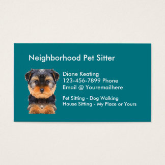 Simple Pet Sitter Business Card