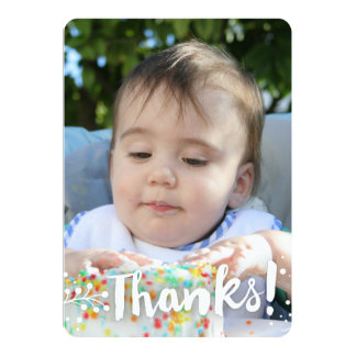 Simple Photo Background 'Thanks!' Card