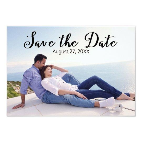 Simple Photo Elegant Script - 3x5  Save the Date Card