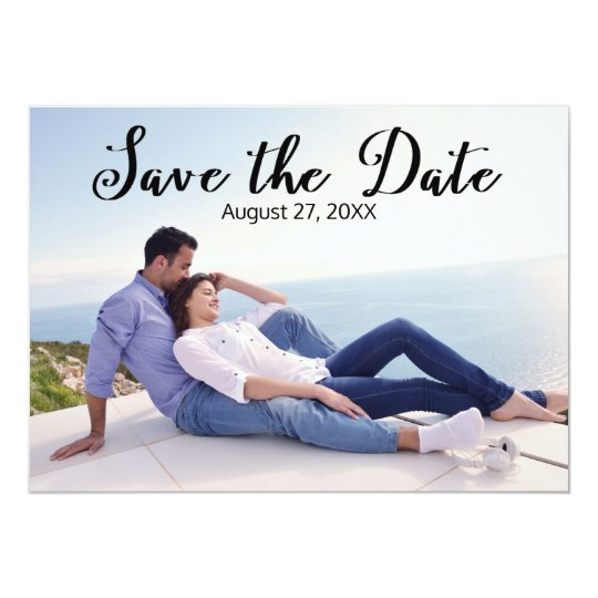 Simple Photo Elegant Script - Save the Date Card