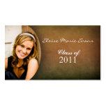 Simple photo Graduation Rep card
