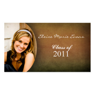 Simple photo Graduation Rep card Business Card Template