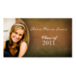 Simple photo Graduation Rep card Pack Of Standard Business Cards