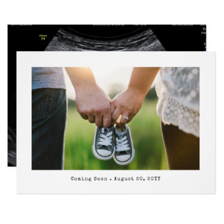 Simple Photo Pregnancy Announcement