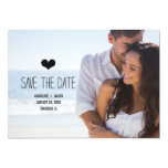 Simple Photo Save the Date 13cm X 18cm Invitation Card