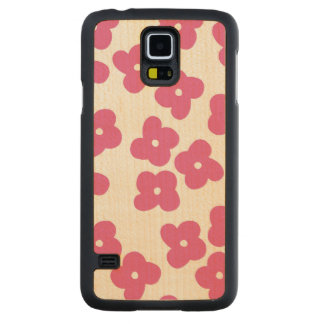 Simple Pink Blossoms Maple Galaxy S5 Case