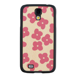 Simple Pink Blossoms Maple Galaxy S4 Case