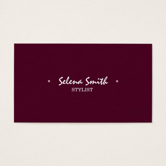 Simple Pink Business Card