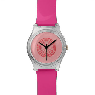 Simple pink circle watch