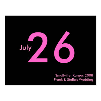 Simple Pink Customizable Save the Date Postcard